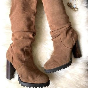 Also Suede Leather Sambuca high knee boots